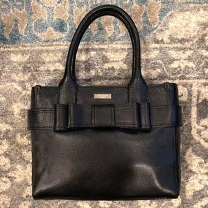 Kate Spade Elena Villabella Black Leather Bow Bag